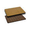 Rectangle Reversible Laminate Table Top - with Light / Dark Combos