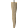 """9"""" Round Tapered Leg with Semi-Gloss Clear Finish"""