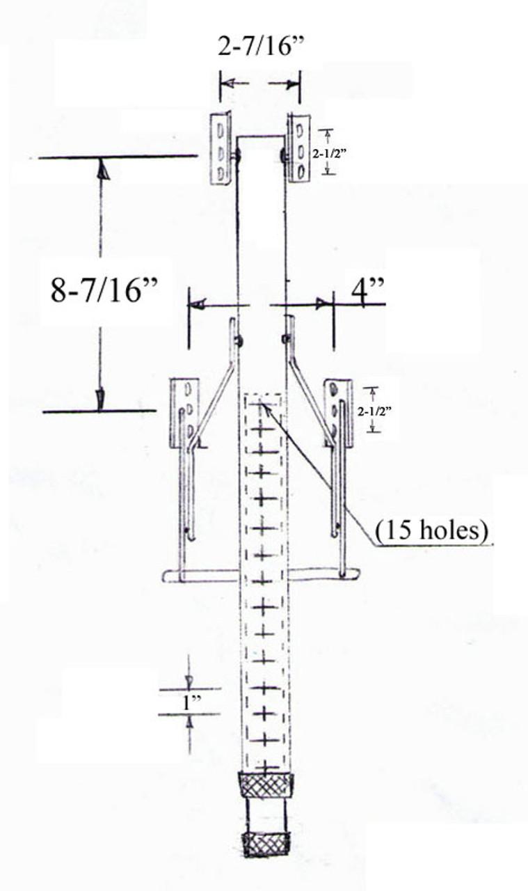 Height Adjustable Single Folding Table Leg FS29ADJTable Legs Online