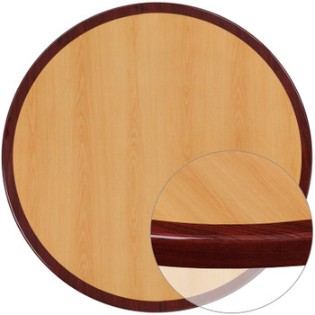 "Resin Table Top - Round with 2"" Thick Drop-Lip"