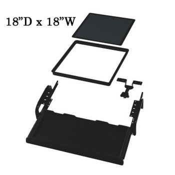 "Downview Flat Panel Display Kit - 18""D x 18""W Viewport"