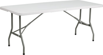 Rectangular Bi-Fold Plastic Folding Table