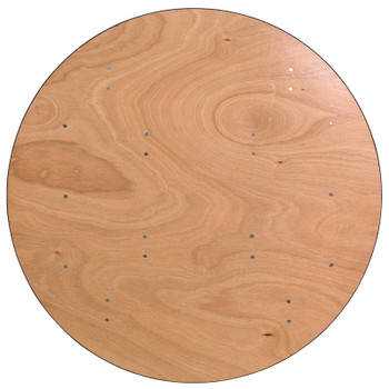 Round Wood Folding Banquet Table with Clear Coated Finished Top