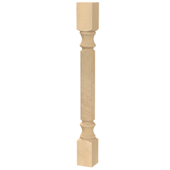 "34-1/2"" Traditional Reeded Table Leg - BW420220"