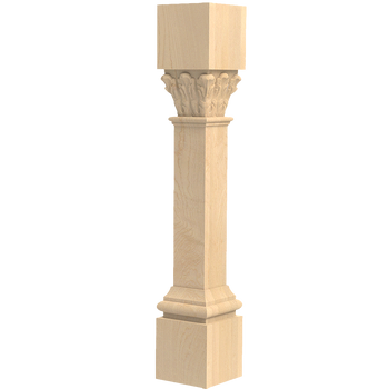 "35-1/4"" Ionic Acanthus Kitchen Island Post Leg"