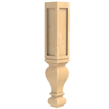 "29"" Gaelic Dining Routed Post Leg"