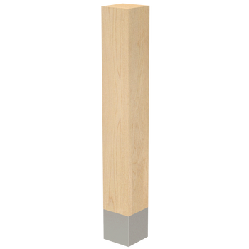 "29"" x 4"" Square Wood Legs with Metal Sleeves"