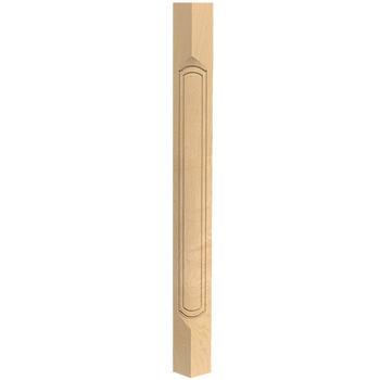 "36-1/2"" Queen Anne French - Corner Post - Hard Maple"