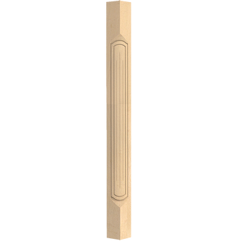 "36-1/2"" Queen Anne Fluted French - Corner Post - Hard Maple"