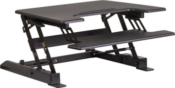 Sit/Stand Series Adjustable Height Desk w/ Keyboard Tray