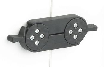 Twist Table Top Connector (Pair) Plastic, Black