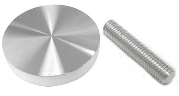 "55 mm (2.17"") Aluminum glass adapter with M10 x 2"" threaded rod"