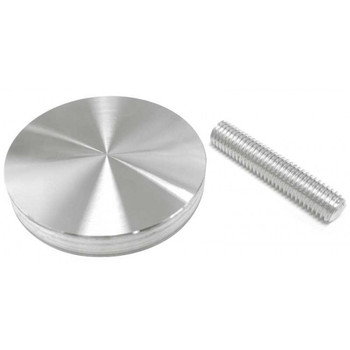 "65mm (2.9/16"") Aluminum glass adapter with M10 x 2"" threaded rod"