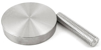 """Stainless steel adapter, 55 mm (2.17"""") with M10 x 2"""" threaded rod"""