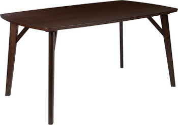 Holden Rectangular Wood Dining Table with Clean Lines and Braced Legs