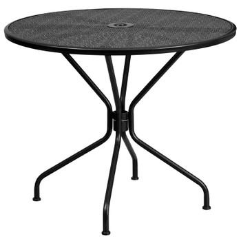 Round Indoor-Outdoor Steel Patio Table