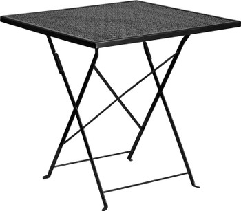 Square Indoor-Outdoor Steel Folding Patio Table