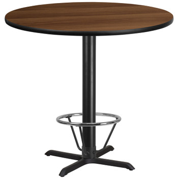 Round Laminate Table Top with X-Shaped Base Set