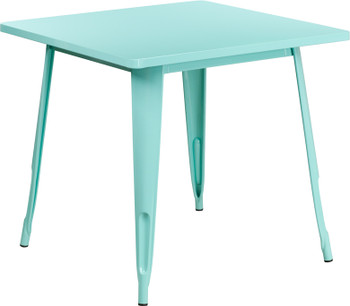 Square Colored Metal Indoor-Outdoor Table
