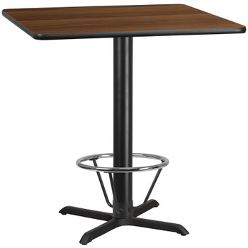 Square Laminate Table Top with X-Shaped Table Base