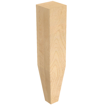 "2"" x 10"" Square Legs with Tapered Foot"