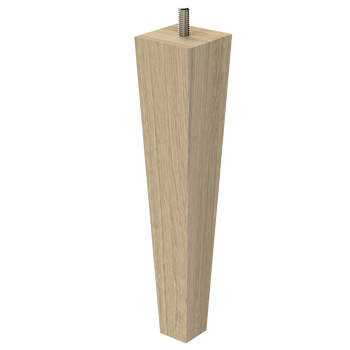 """9"""" Square Tapered Leg with Semi-Gloss Clear Finish"""
