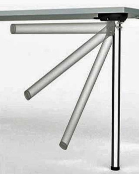 Stainless Steel, Heavy Duty, Single Folding Table Leg
