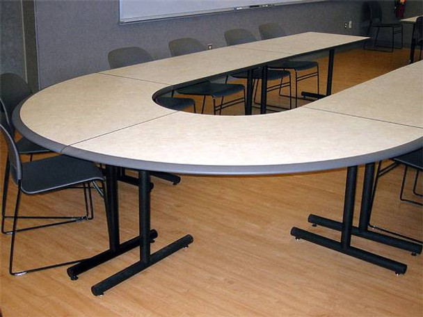 Crescent table top
