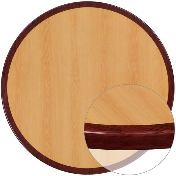 """Resin Table Top - Round with 2"""" Thick Drop-Lip"""
