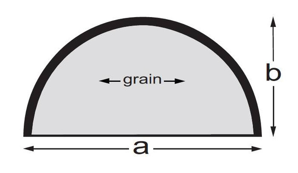 Half-Round table top