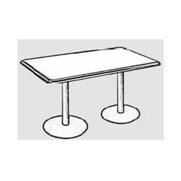Rectangle Barista Dining Height Table with 2 Bases
