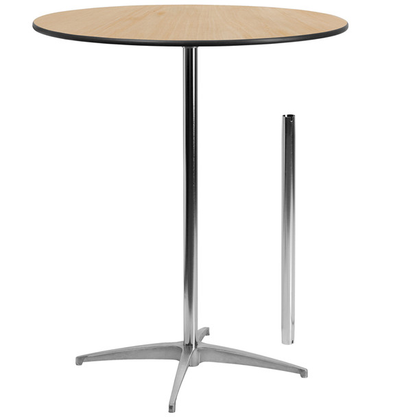 Round Wood Cocktail Table