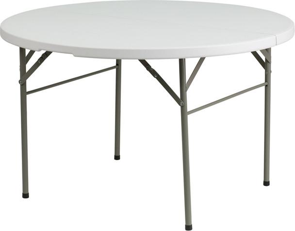 Round Bi-Fold Plastic Folding Table