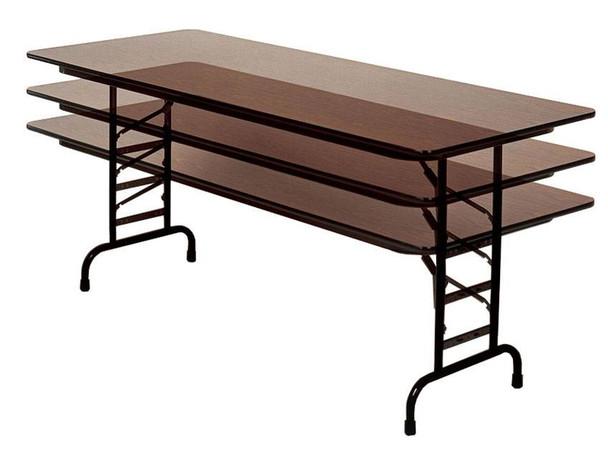 "5/8"" Thick Melamine Adjustable Folding Table"