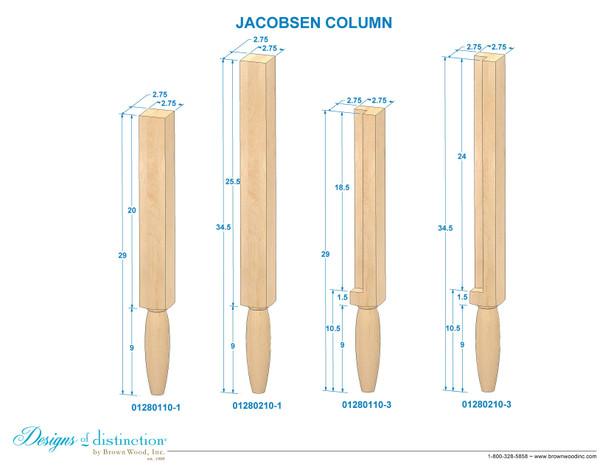 """34-1/2"""" Jacobsen Post Leg"""