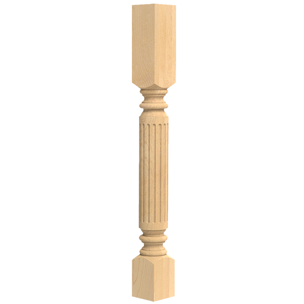"35-1/4"" Roman Classic Fluted Kitchen Table Leg - BW230240"