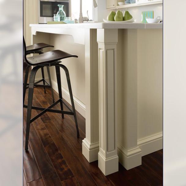 "35-1/4"" Cosmo Wood Kitchen Island Table Leg"