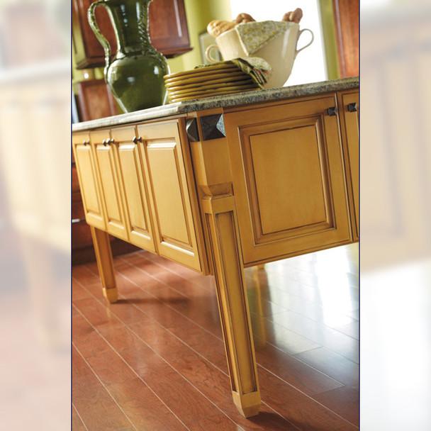 "35-1/4"" Mission Kitchen Island Wood Table Leg"