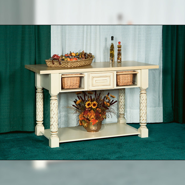 "35-1/4"" Roman Classic Weaved Kitchen Island Leg"