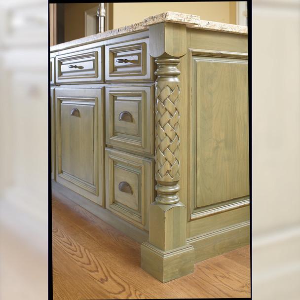 "35-1/4"" Roman Classic Weaved Kitchen Leg"