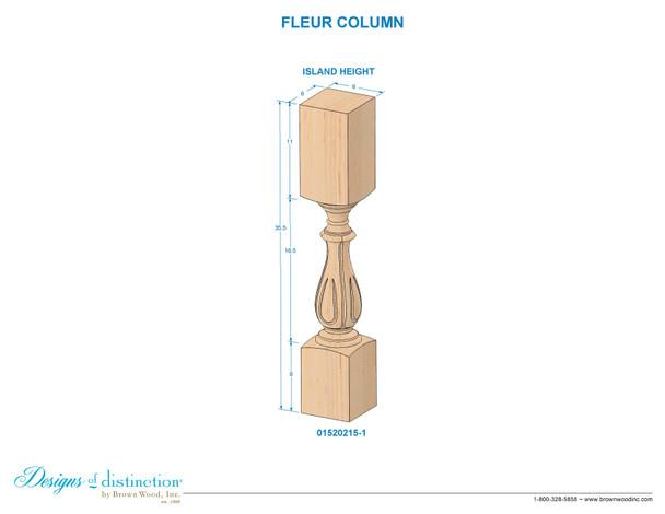 "35-1/2"" Fleur Table Leg"