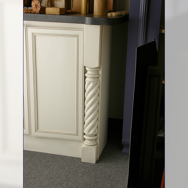 "35-1/4"" Roman Classic Roped Kitchen Table Leg - BW082730"
