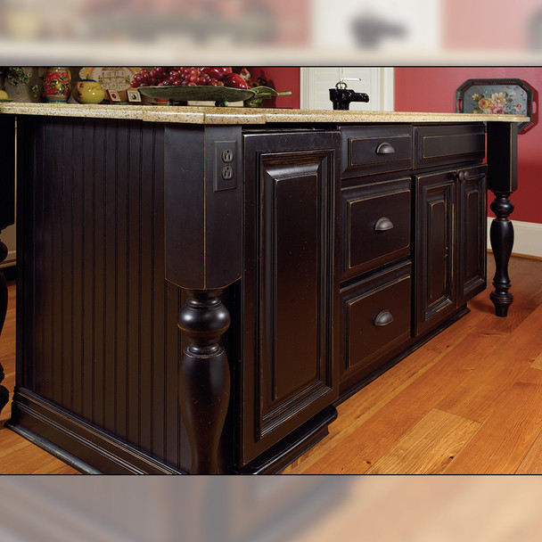 """35-1/4"""" Country French Kitchen Table Leg"""