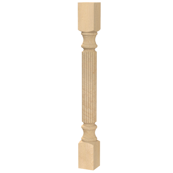 "34-1/2"" Traditional Reeded Table Leg"