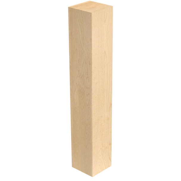 """29"""" x 5"""" Square Wood Post Leg"""
