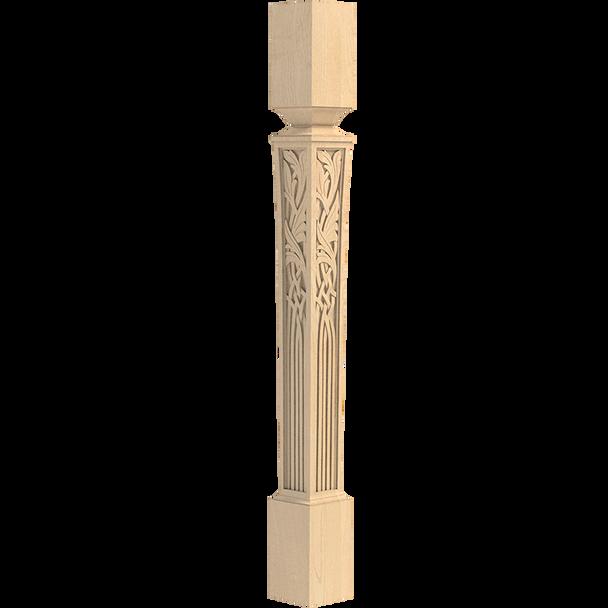 """41"""" Nouveau Carved Bar Post Leg"""