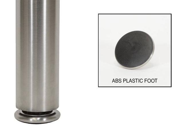 """2-1/2"""" Diameter Stainless Steel Leg"""
