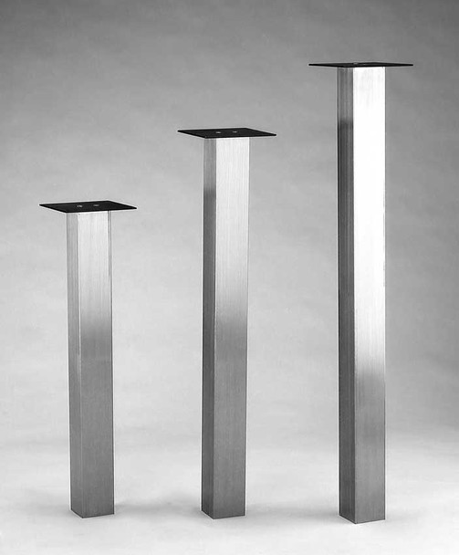 "3"" Square Stainless Steel Table Leg"