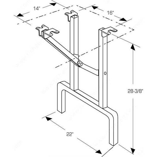 Standard Folding Table Legs