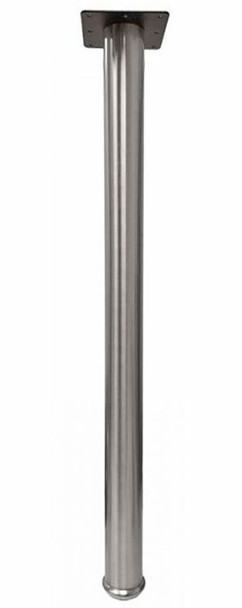 "34-1/2"" tall Counter Height Stainless Steel Leg, 2-3/8"" Dia."